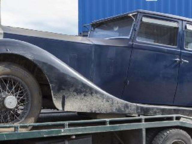 The 1922 Rolls-Royce Silver Ghost found in a container at Port Otago last year. Photo supplied.