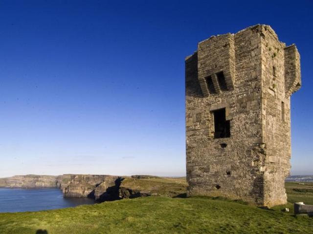 The huge and half-full carpark at the impressive Cliffs of Moher was  testimony to their tourism...