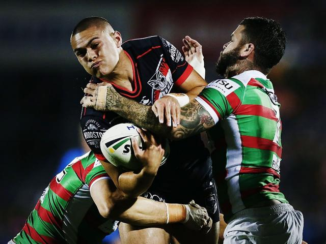 Tui Lolohea during his last outing for the Warriors, against the Rabbitohs in round 23. Photo:...