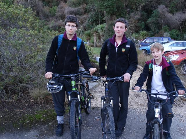 Logan Park High School pupils (from left) Calum ...