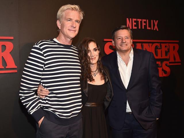Stranger Things stars Matthew Modine and Winona Ryder, alongside Netflix Chief Content Officer...