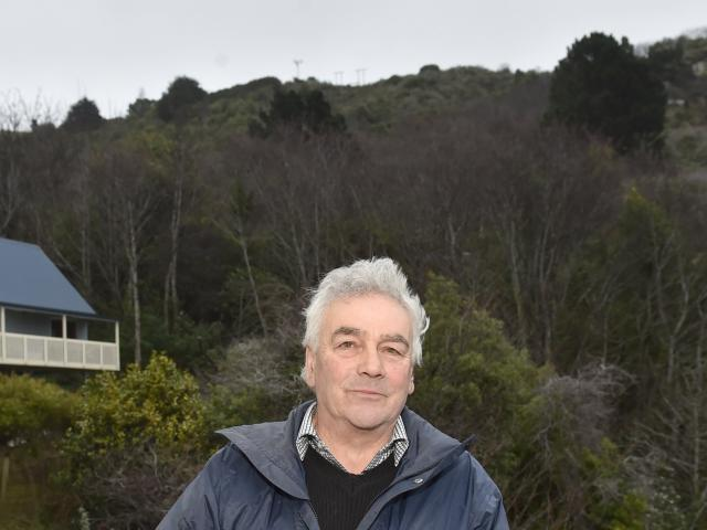 Port Chalmers resident Peter George at his home in Mount St  near the corridor of sycamore trees...