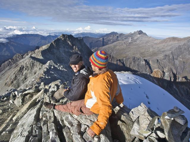 Enjoying the stunning view of Laguna Verde, 1000m below the Humboldt Glacier. Photos: Jimmy...