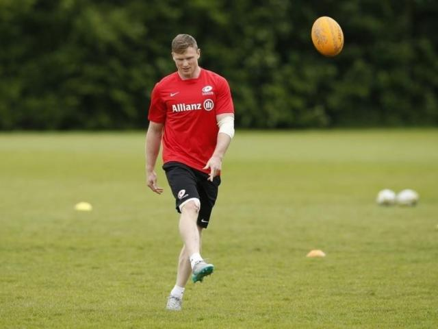 Chris Ashton at a Saracens training session. Photo: Action Images / Andrew Boyers Livepic