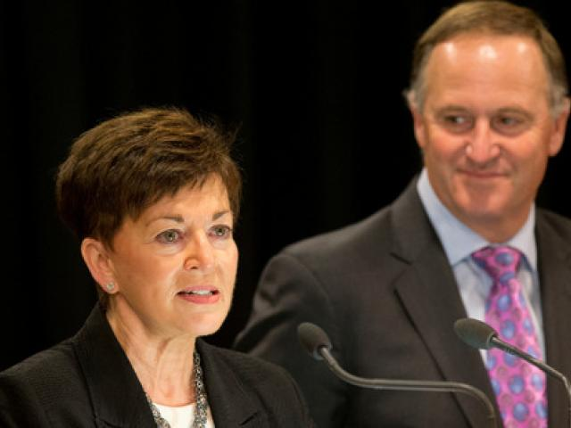Dame Patsy Reddy with Prime Minister John Key earlier this year. Photo NZ Herald