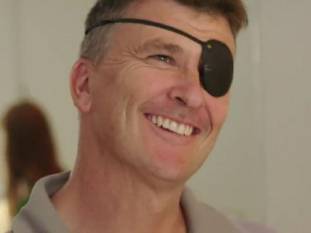 Ross Bannan was left blind in one eye after an accident while building his family's home. Photo:TV3