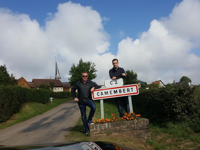 Whitestone Cheese chief executive Simon Berry (left) and head cheese-maker Chris Moran stop at...
