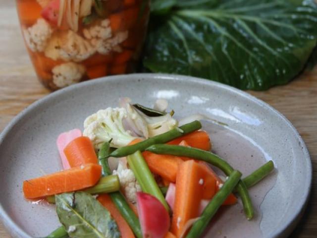 Pickled vegetables. Photo by Simon Lambert.