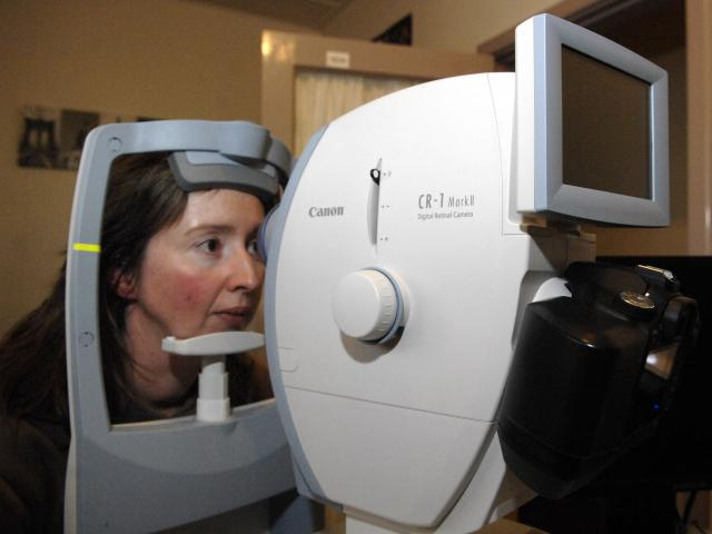 A free eye exam like this has saved a young girl's life. Photo: ODT files