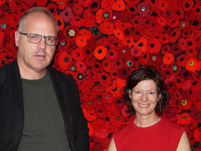 Toitu Otago Settlers Museum curator Sean Brosnahan (left) and visitor experience manager Kirsty...