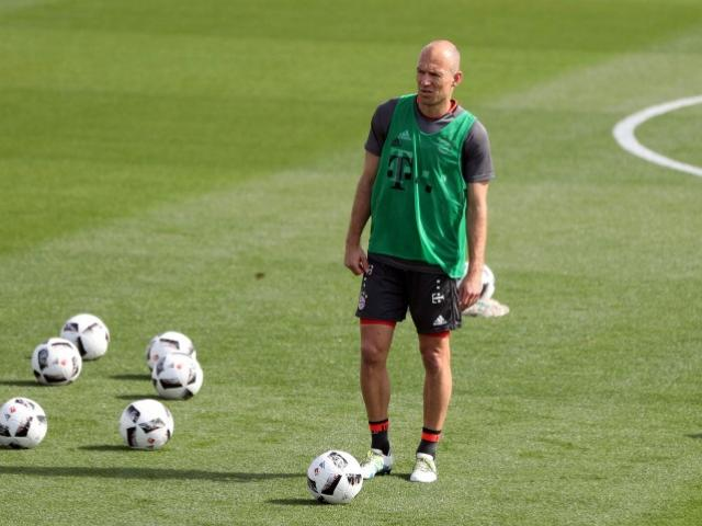 Arjen Robben at a training session with Bayern Munich. Photo: Reuters