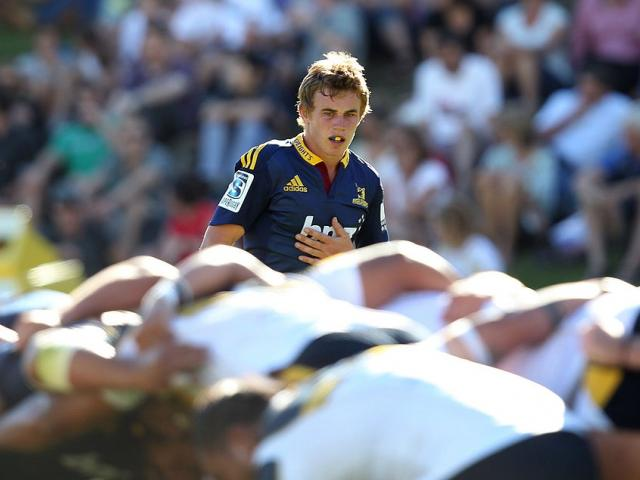 Hayden Parker plays a trial game for the Highlanders in 2014. Photo: Getty Images