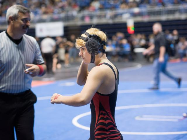 A transgender boy competed in a state championship girls wrestling competition. Photo: Reuters.