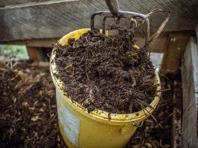The key to making compost is to balance the nitrogen and carbon ingredients.