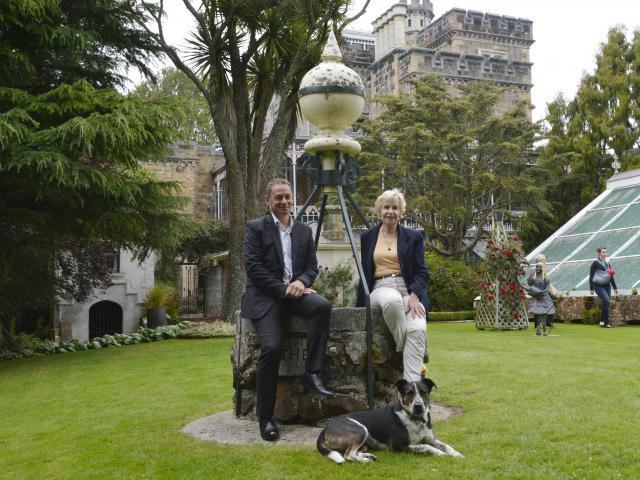Larnach Castle managing director Norcombe Barker and owner Margaret Barker on the castle grounds...