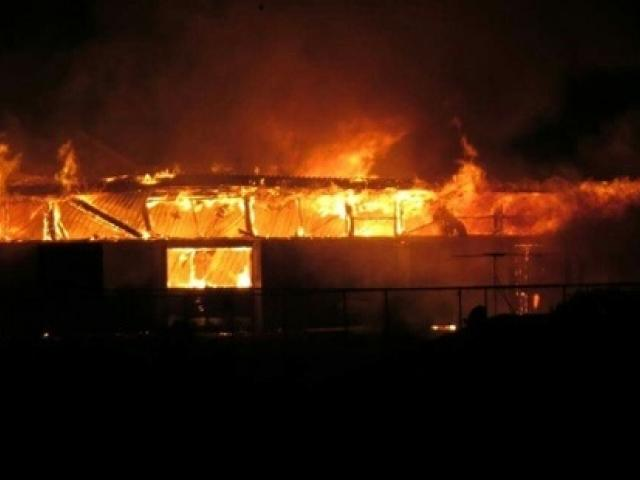 Long Bay College is closed today after fire ripped through the technology block. Photo:NZ Herald ...