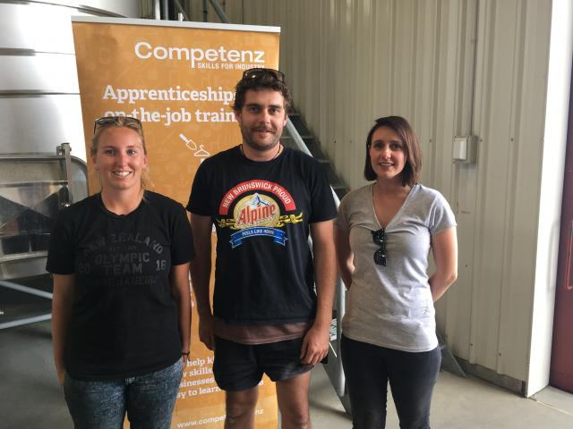Young cellarhand of the Year Simon Gourley competed against second place Abby Gallagher(left) and...