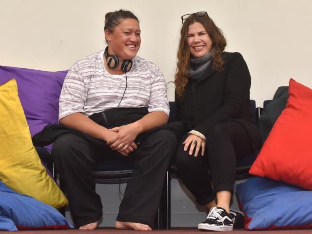 Fringe Festival Dunedin play Stories to Heal Violence producer and actor Fran Kewene (left) and...