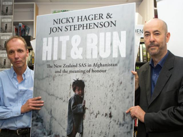 "Authors of the book ""Hit & Run"" Nicky Hager (left) and Jon Stephenson Photo: NZ Herald/Mark..."