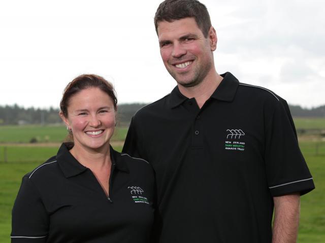 Southland-Otago dairy awards regional managers Kelly and Jono Bavin, of Tussock Creek. Photo...