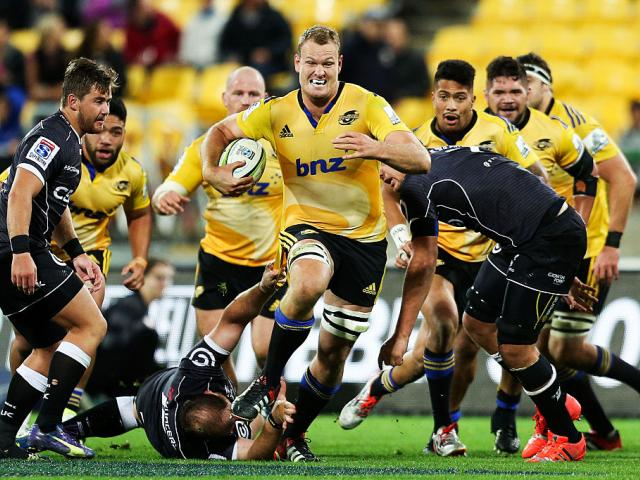 James Broadhurst in action for the Hurricanes against the Sharks in May 2015. Photo Getty Images