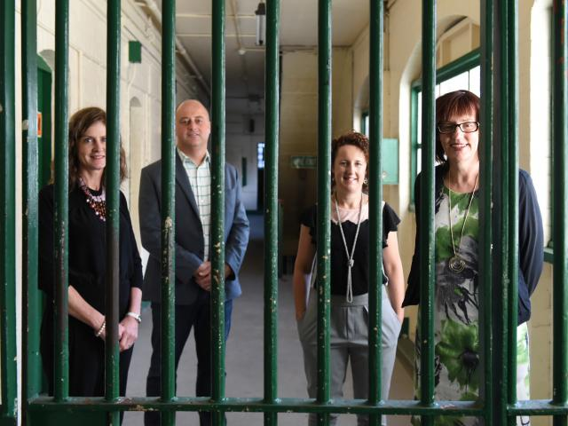 New Dunedin Prison Charitable Trust trustees (from left) Amanda Jane Brosnan, Barry Timmings, ...