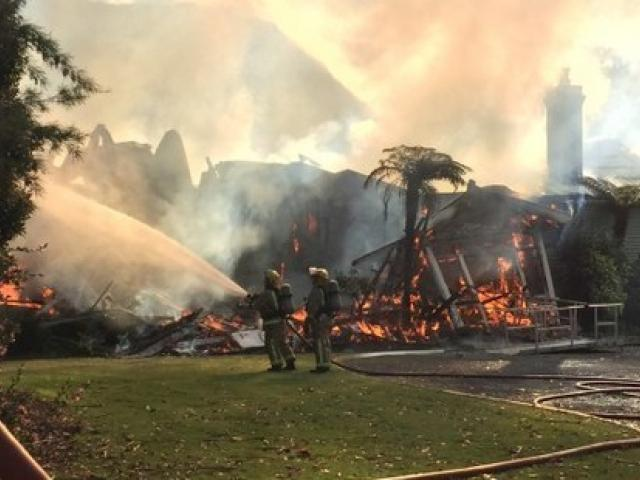 A man was saved from a serious house fire in Kaituna. Photo: NZ Herald