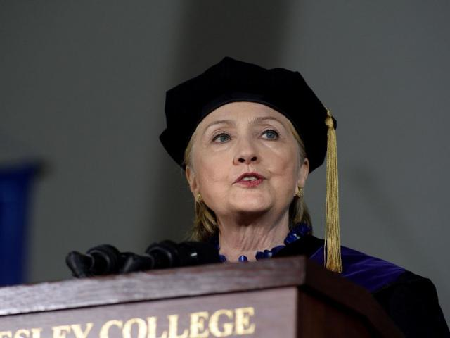 Hillary Clinton graduated from Wellesley College in 1969. Photo Getty Images
