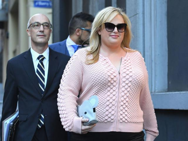 Rebel Wilson leaves the Supreme Court. Photo: Getty