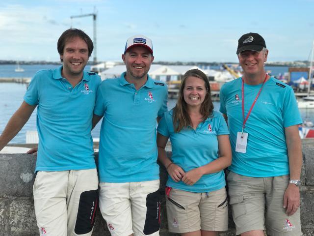 Dunedin company Animation Research Ltd's Bermuda-based team (from left) John Rendall, Chris...