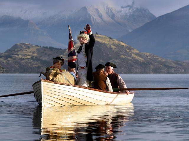 A stuffed sheep and a frozen pig did not rock the boat as a re-enactment of  Captain James Cook's...