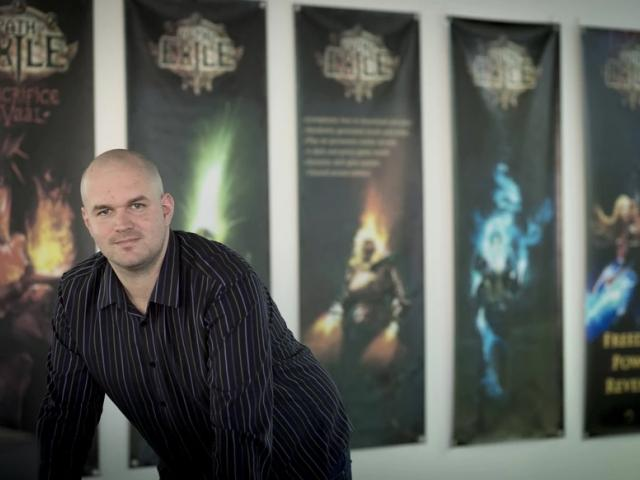 Chris Wilson, founder of Grinding Gear Games - the makers of Path of Exile, at his office in Henderson. Photo: NZ Herald / Dean Purcell