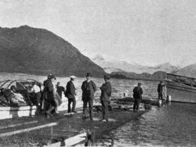 Pembroke wharf, Lake Wanaka. — Otago Witness, 27.6.1917.