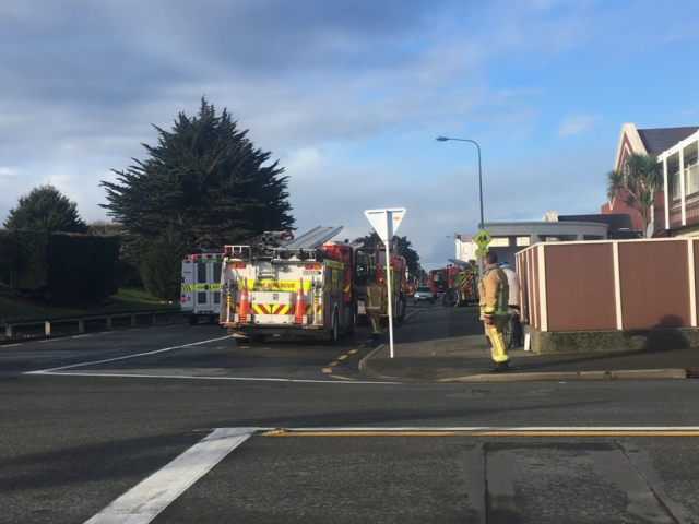 Cordons have been removed and police are still present at an incident in Invercargill where there were reports of a 'strong chemical smell'. Screengrab: ODT