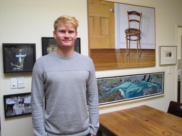 Finn Butcher at home in Alexandra.