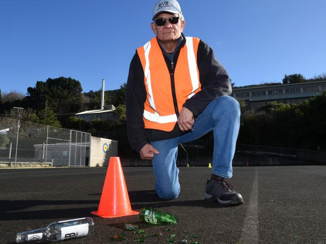 Ravensbourne School grounds manager Gus Schaumkel is frustrated about cleaning up after vandals...