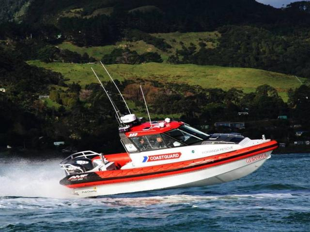 The woman and two children were rescued from the Hokianga Harbour. Photo / Coastguard Northern...
