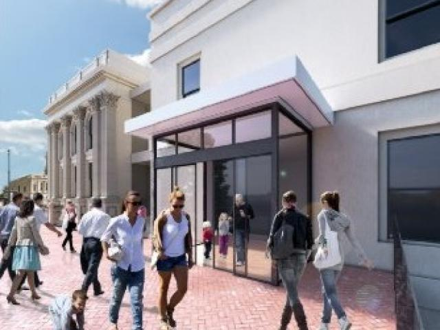 Drawings showing the Waitaki District Council's preference for an entrance to a redeveloped Forrester Gallery have been released by the council. PHOTO: SUPPLIED