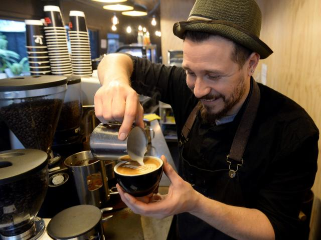 Max Baldoni (30) is from Argentina and works at Insomnia (formerly Strictly Coffee). Photo: Linda...