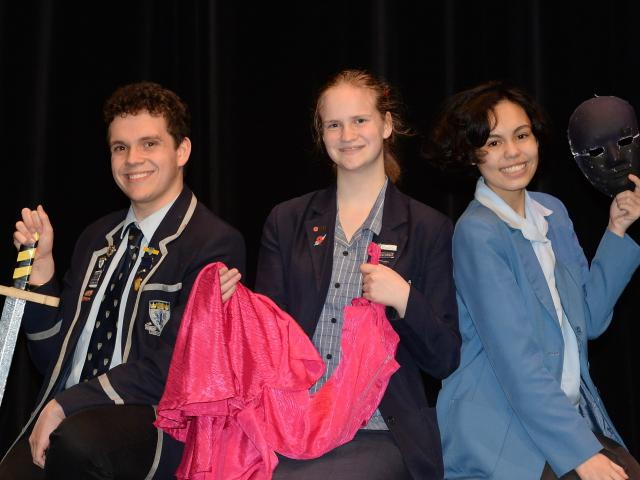Looking for ways to raise money are (from left) King's High School pupil Max Beal (17), Otago...