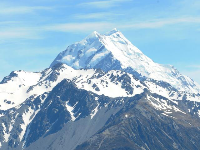 Aoraki/Mt Cook, with the treacherous Caroline face in the foreground. ODT Files