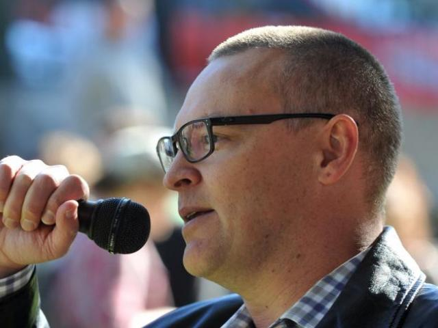 David Clark speaks in Dunedin, Photo: ODT