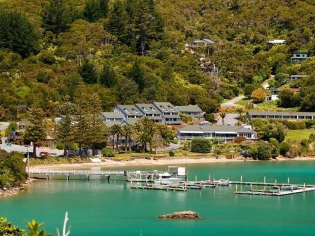 Portage Resort Hotel in Marlborough's Kenepuru Sound. Photo: Supplied