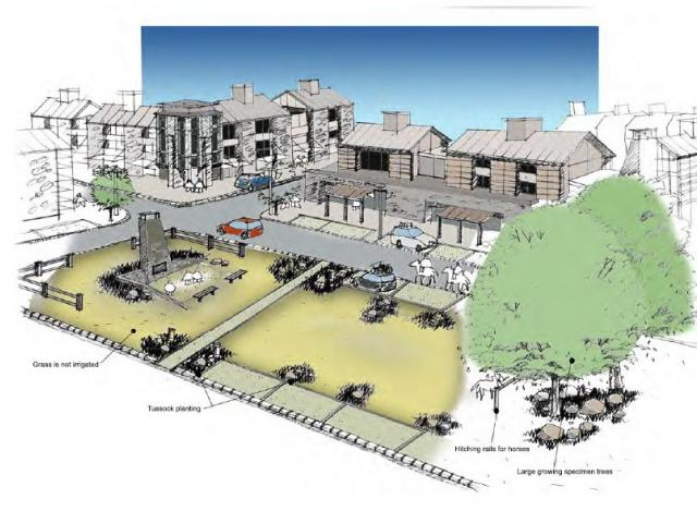 An idea of what the Mt Cardrona Station village centre could look like has been outlined in the...