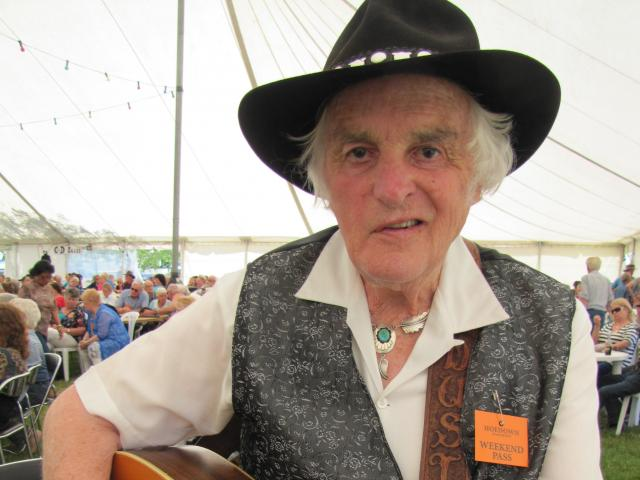 Cromwell country singer Dusty Spittle gets ready to perform at the Cromwell Gold 'n' Notes...