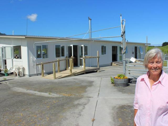 Mandy Robinson in front of Te Horo Farmstay. Photo: NZ Herald