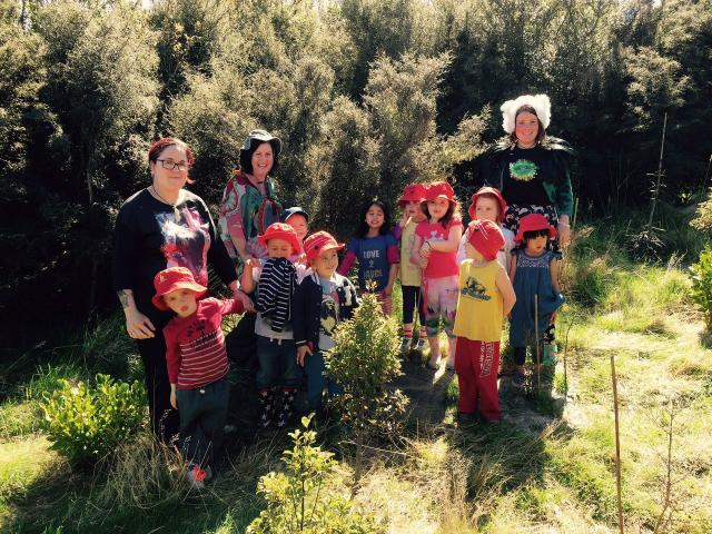 Question 23: Educator Tahu Mackenzie and parents with the Port Chalmers preschoolers who...