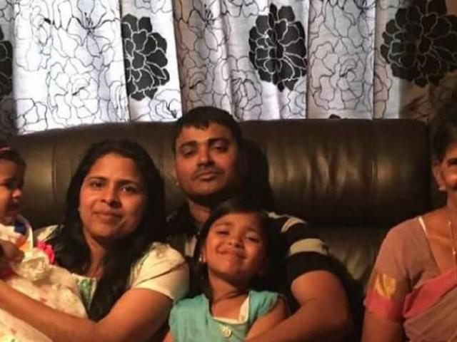 Subi Babu (second from left), Shibu Kochummen and his mother Alekutty Daniel fell gravely ill...