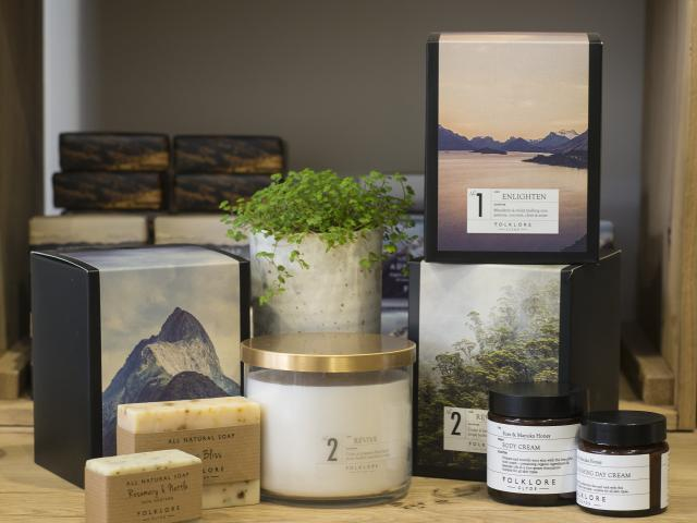 Folklore stock their own range of candles, natural soaps, lotions, and more.