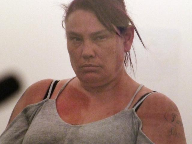 Tania Vince (37) bit a police officer's hand while she was being processed at the station. Photo:...